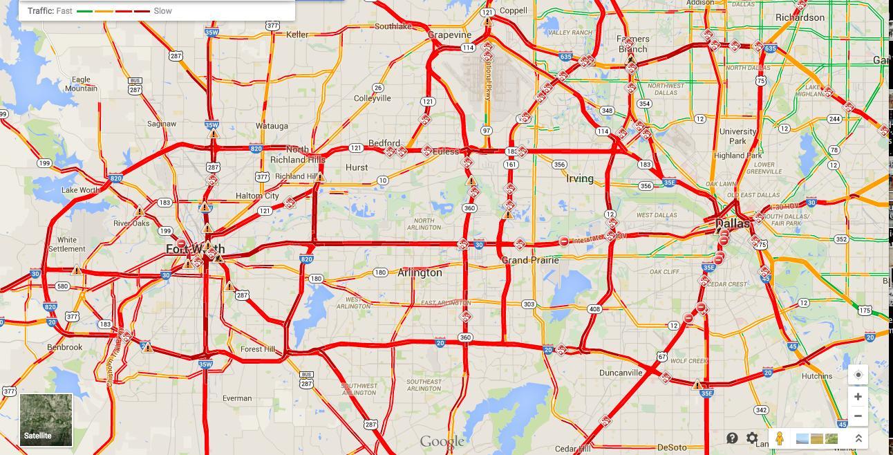 dallas texas traffic map Dallas Traffic Map Map Of Dallas Traffic Texas Usa dallas texas traffic map