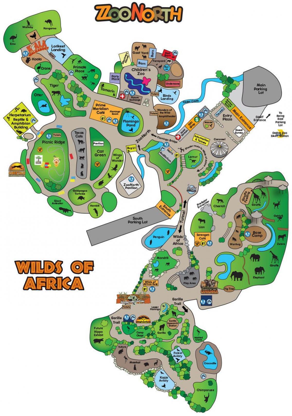 Dallas Zoo Map Dallas zoo map   Map of Dallas zoo (Texas   USA)
